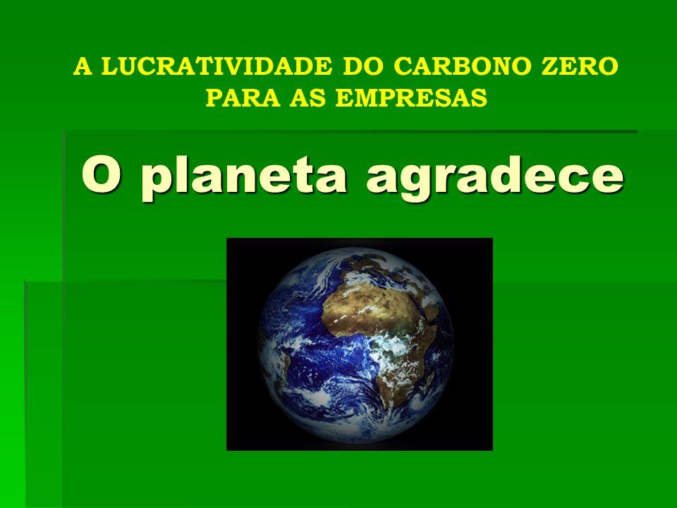 A LUCRATIVIDADE DO CARBONO ZERO PARA AS EMPRESAS O planeta agradece