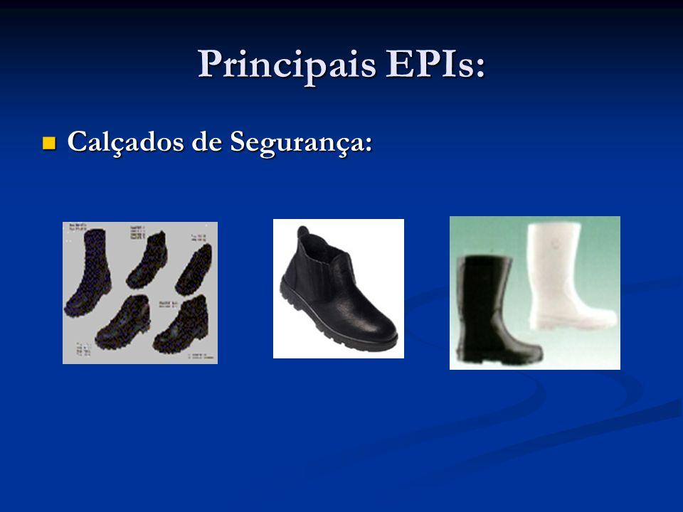 Principais EPIs: Luvas de Segurança: Luvas de Segurança: