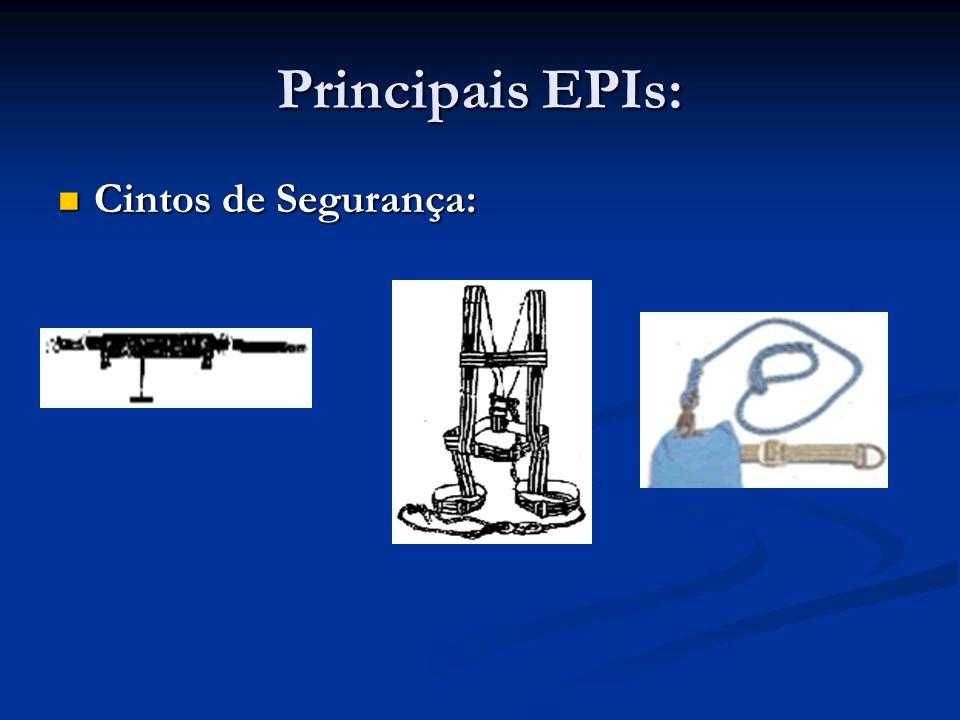 Principais EPIs: Capacetes: Capacetes: