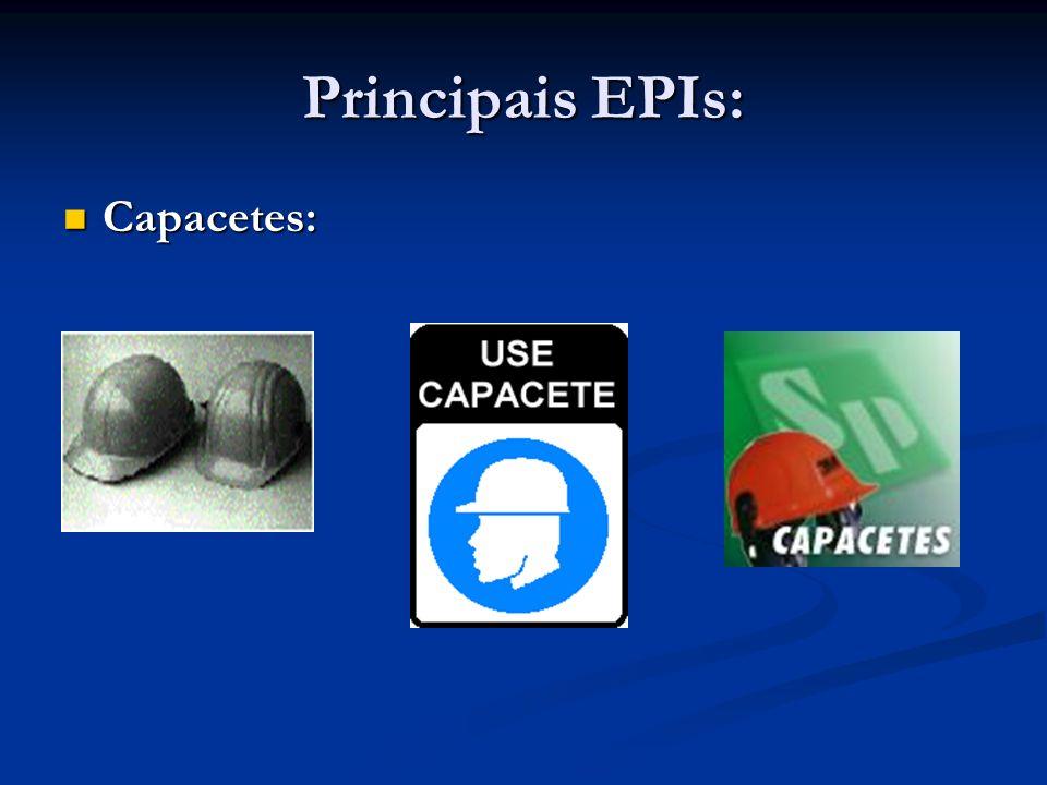 Principais EPIs: Protetor Auricular: Protetor Auricular: