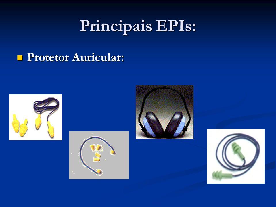 Principais EPIs: Protetor Facial: Protetor Facial: