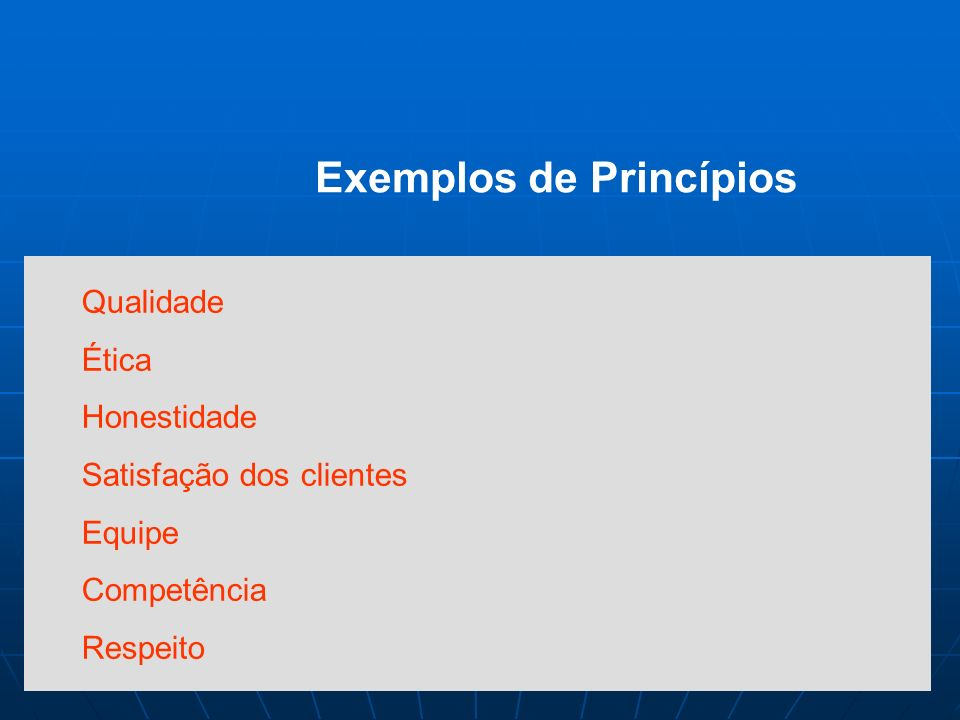 Princípios da Qualidade Total Total satisfação do cliente Gerência Participativa Desenvolvimento Humano Constância de Propósitos Aperfeiçoamento Contí