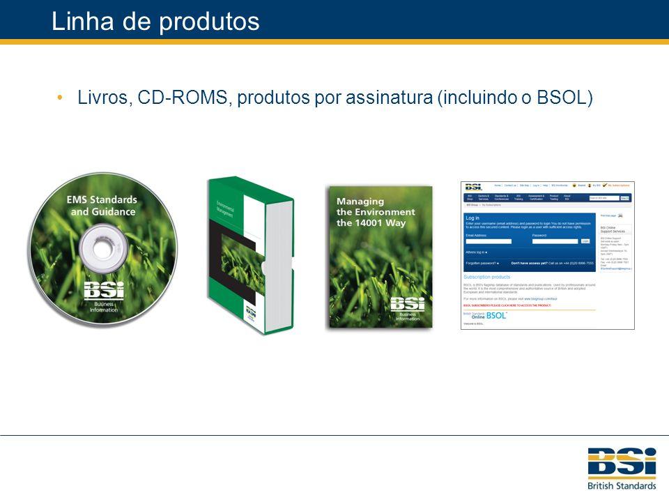 Linha de produtos Livros, CD-ROMS, produtos por assinatura (incluindo o BSOL)