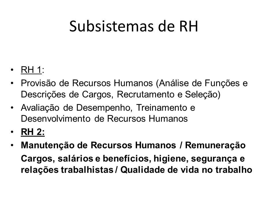 Administração de Recursos Humanos II Gestão com Pessoas Subsistema de Manutenção Profª Patrícia Krauss Serrano Paris
