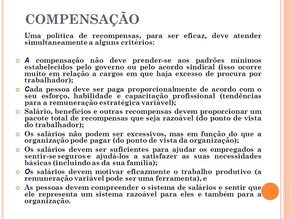 E STRUTURA DE C ARGOS E S ALÁRIOS Os cargos têm valorações diferenciadas, conforme: Requisitos exigidos para contratação, Grau de complexidade e dific