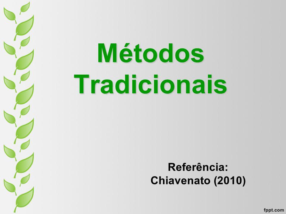 Métodos Tradicionais Referência: Chiavenato (2010)