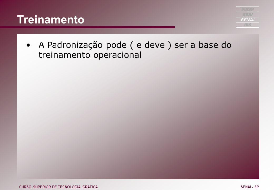 Treinamento A Padronização pode ( e deve ) ser a base do treinamento operacional CURSO SUPERIOR DE TECNOLOGIA GRÁFICASENAI - SP