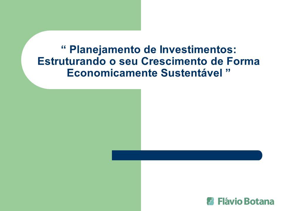Planejamento de Investimentos: Estruturando o seu Crescimento de Forma Economicamente Sustentável