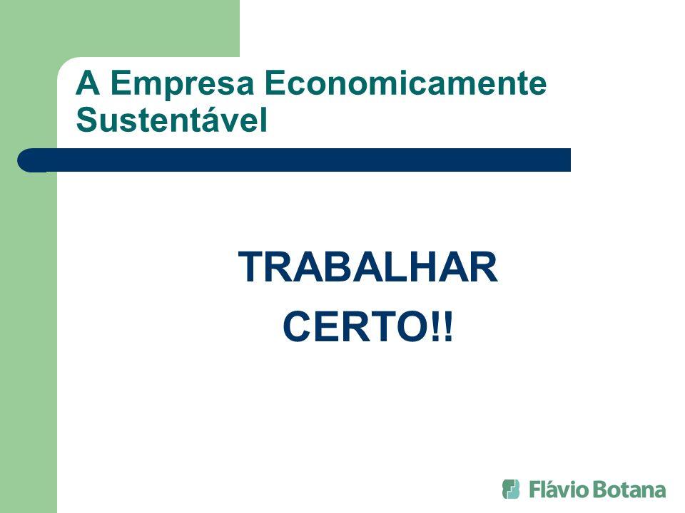 A Empresa Economicamente Sustentável TRABALHAR CERTO!!