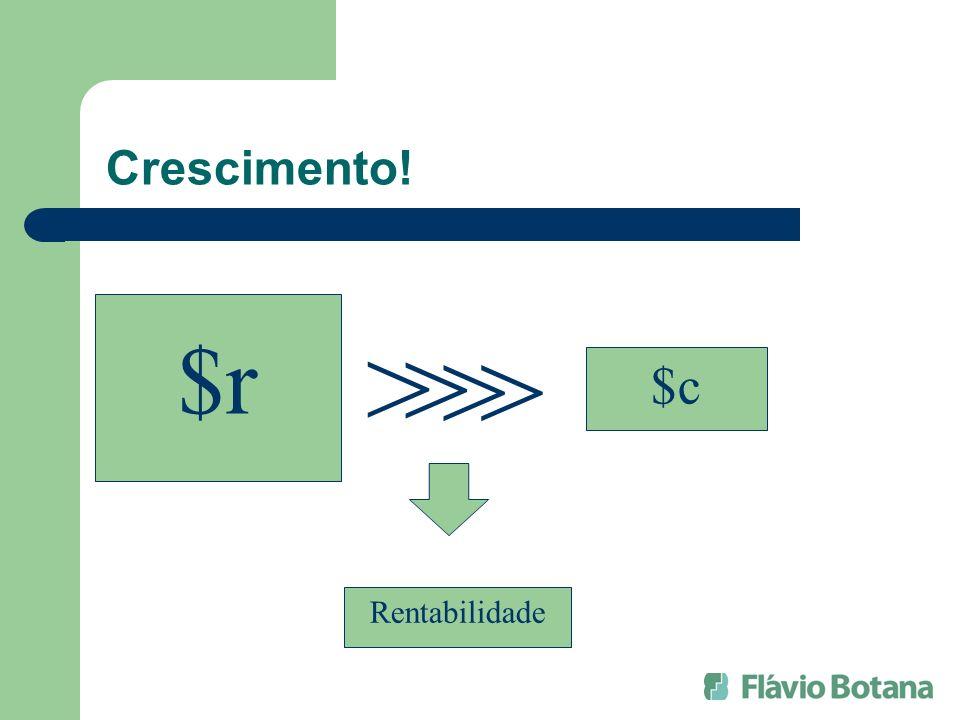 Crescimento! $r $c > > Rentabilidade >>