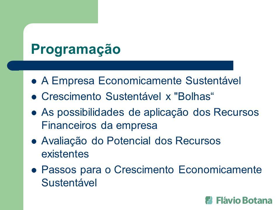 Programação A Empresa Economicamente Sustentável Crescimento Sustentável x
