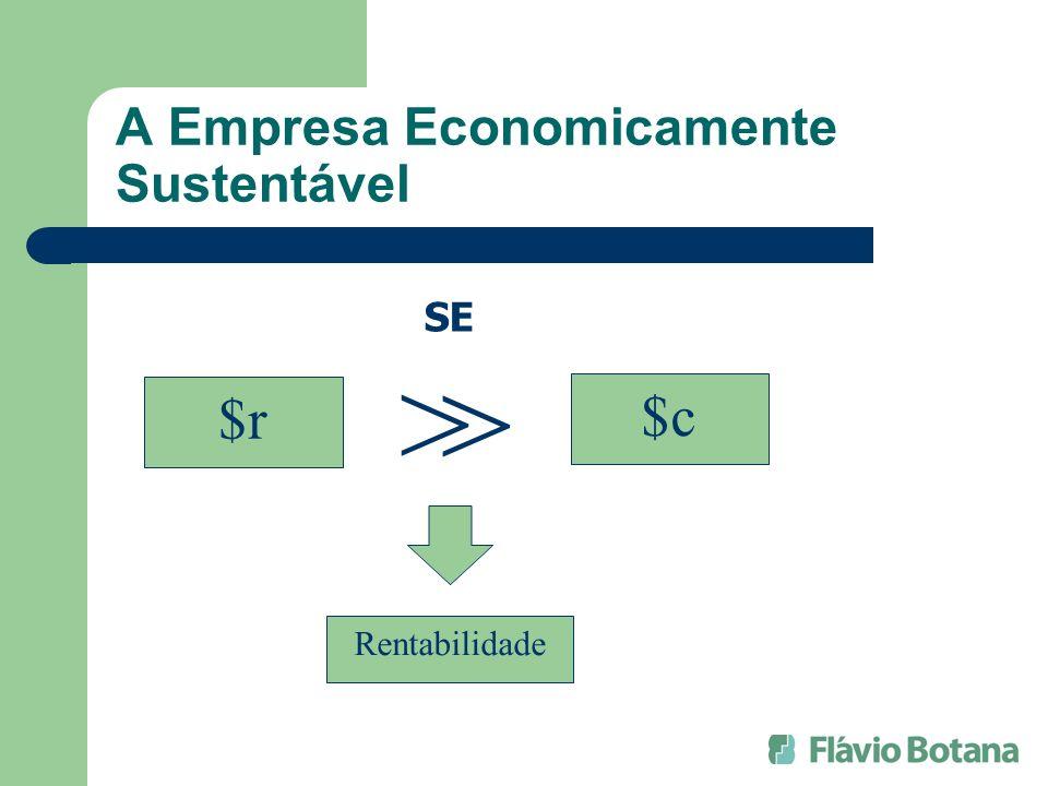 A Empresa Economicamente Sustentável $r $c SE > > Rentabilidade