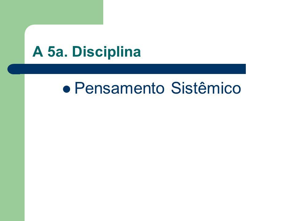 A 5a. Disciplina Pensamento Sistêmico