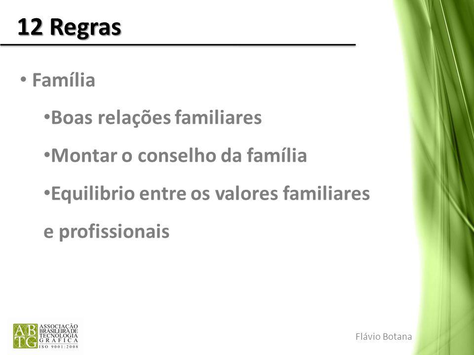 12 Regras Família Boas relações familiares Montar o conselho da família Equilibrio entre os valores familiares e profissionais Flávio Botana