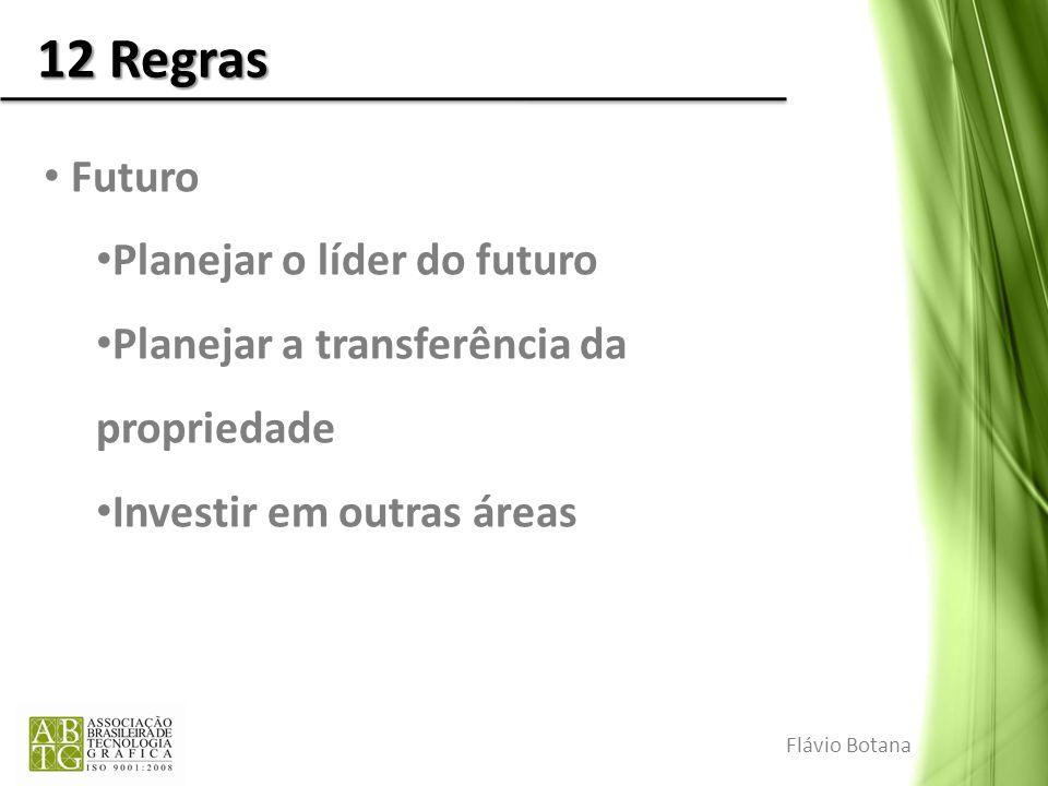 12 Regras Futuro Planejar o líder do futuro Planejar a transferência da propriedade Investir em outras áreas Flávio Botana