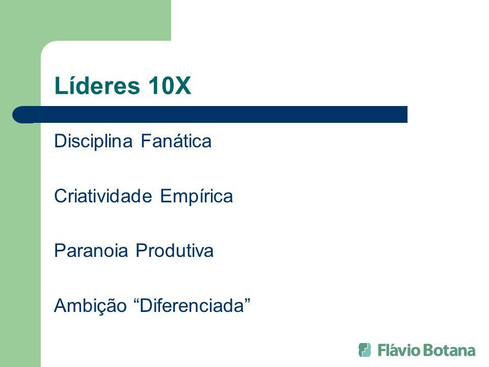 Líderes 10X Disciplina Fanática Criatividade Empírica Paranoia Produtiva Ambição Diferenciada