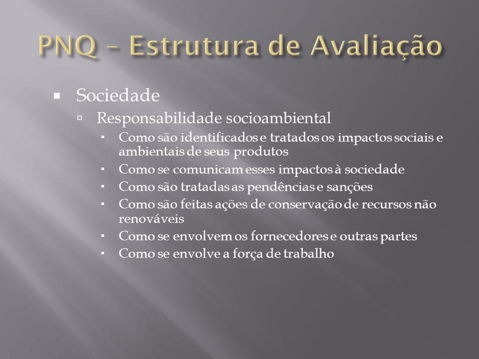 Sociedade Responsabilidade socioambiental Como são identificados e tratados os impactos sociais e ambientais de seus produtos Como se comunicam esses