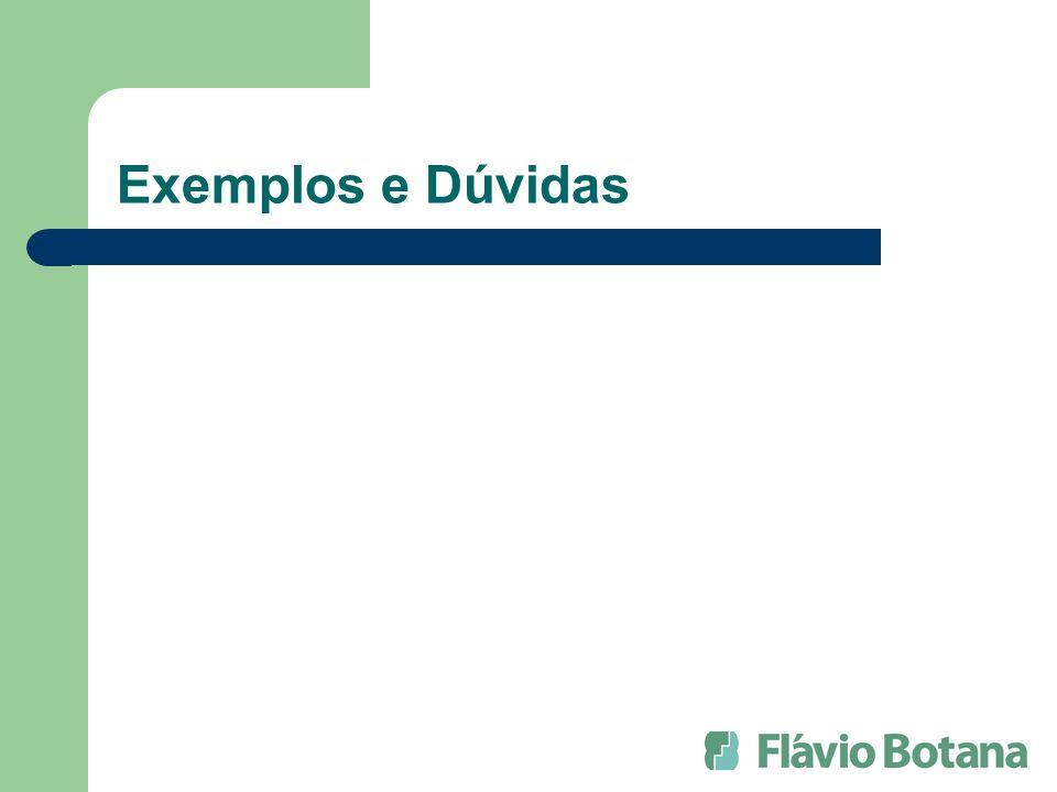 Exemplos e Dúvidas