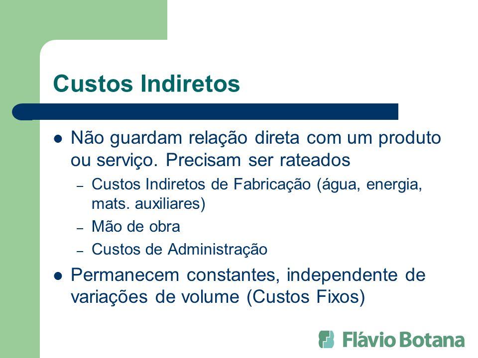 Margem de Contribuição (por produto) Valor de Venda (-) Valor de Desembolso (=) CONTRIBUIÇÃO MARGINAL