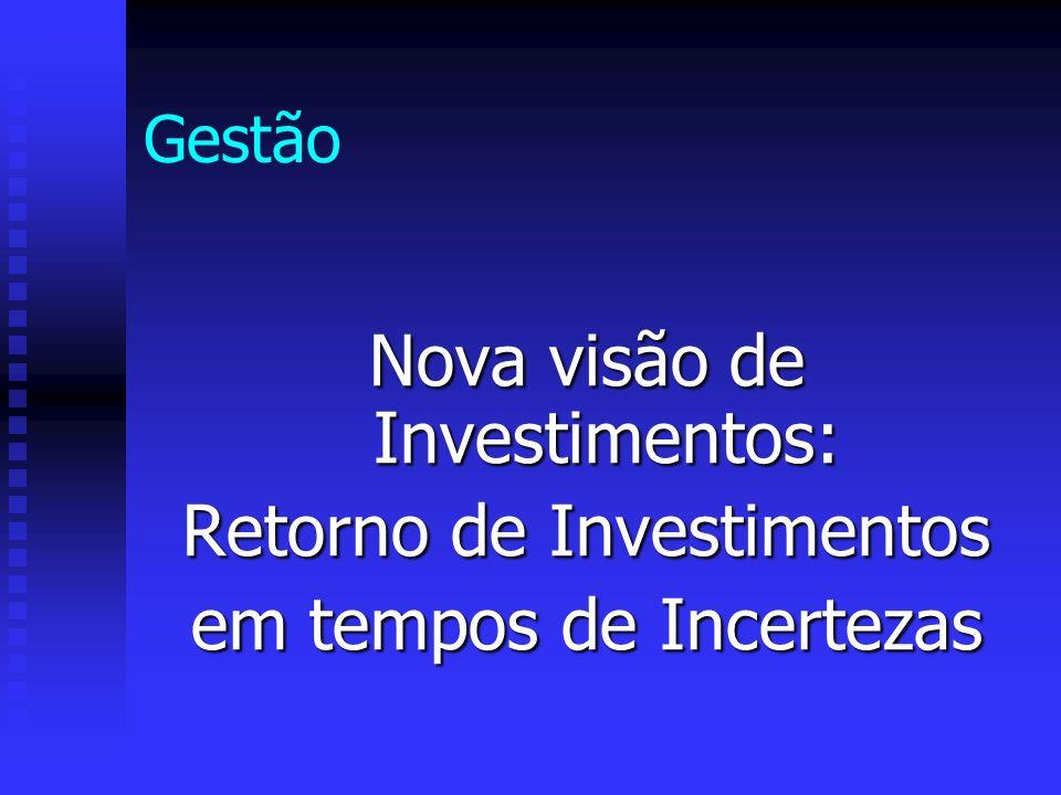Gestão Nova visão de Investimentos: Retorno de Investimentos em tempos de Incertezas