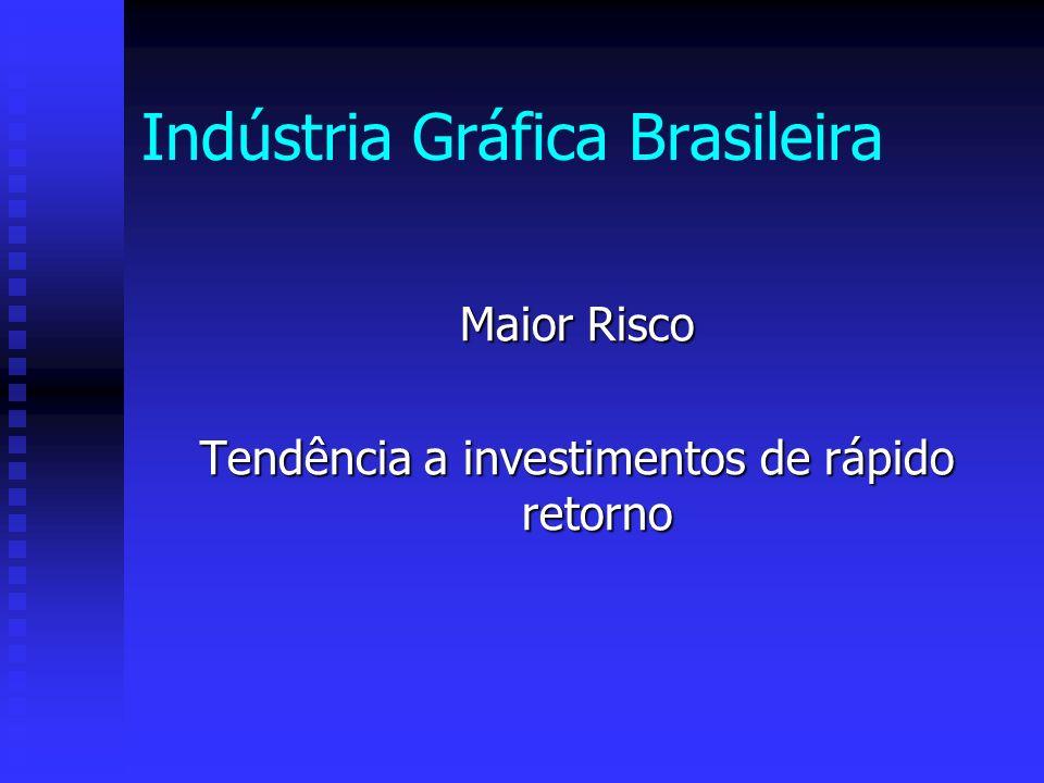 Indústria Gráfica Brasileira Maior Risco Tendência a investimentos de rápido retorno