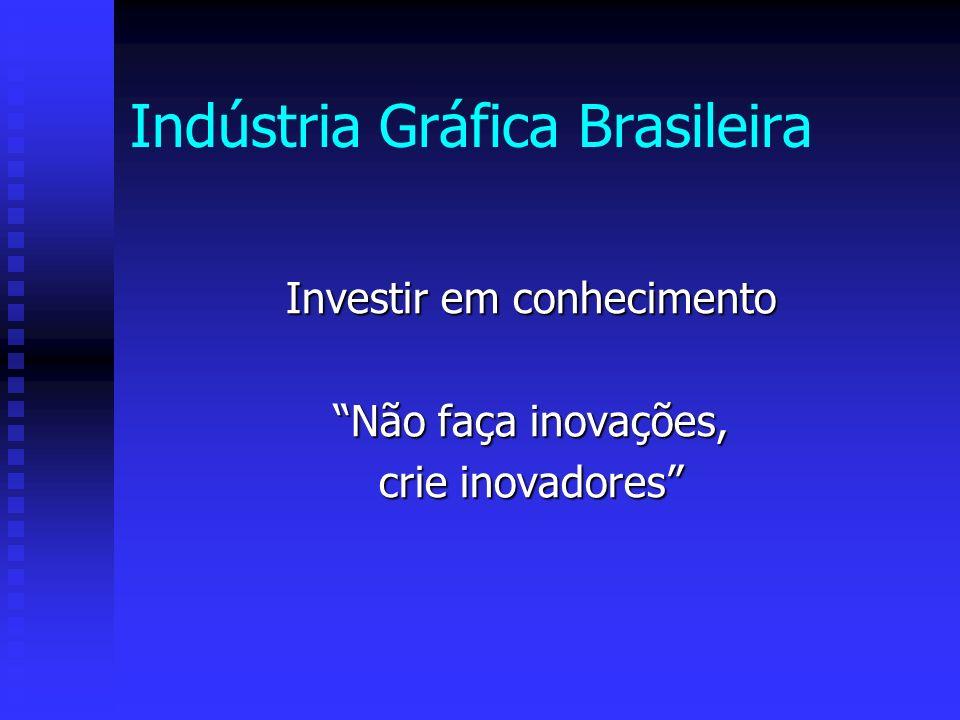 Indústria Gráfica Brasileira Investir em conhecimento Não faça inovações, crie inovadores
