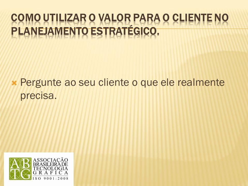 Pergunte ao seu cliente o que ele realmente precisa.
