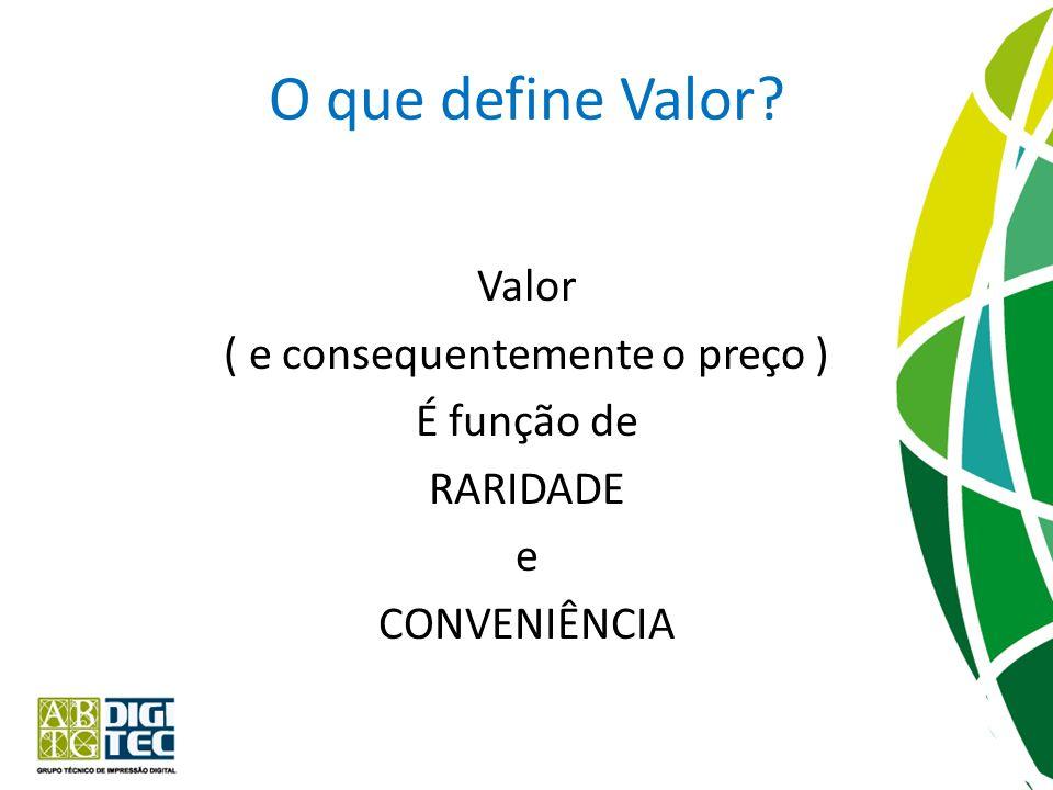 O que define Valor.