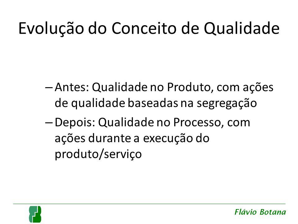 Juran A qualidade deve ser planejada e seus custos devem ser apropriados Qualidade: – Requisitos que atendem a necessidade dos clientes – Ausência de deficiências Flávio Botana