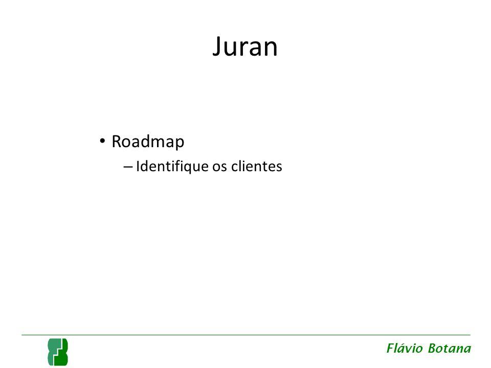 Juran Roadmap – Identifique os clientes – Identifique as necessidades dos clientes Flávio Botana
