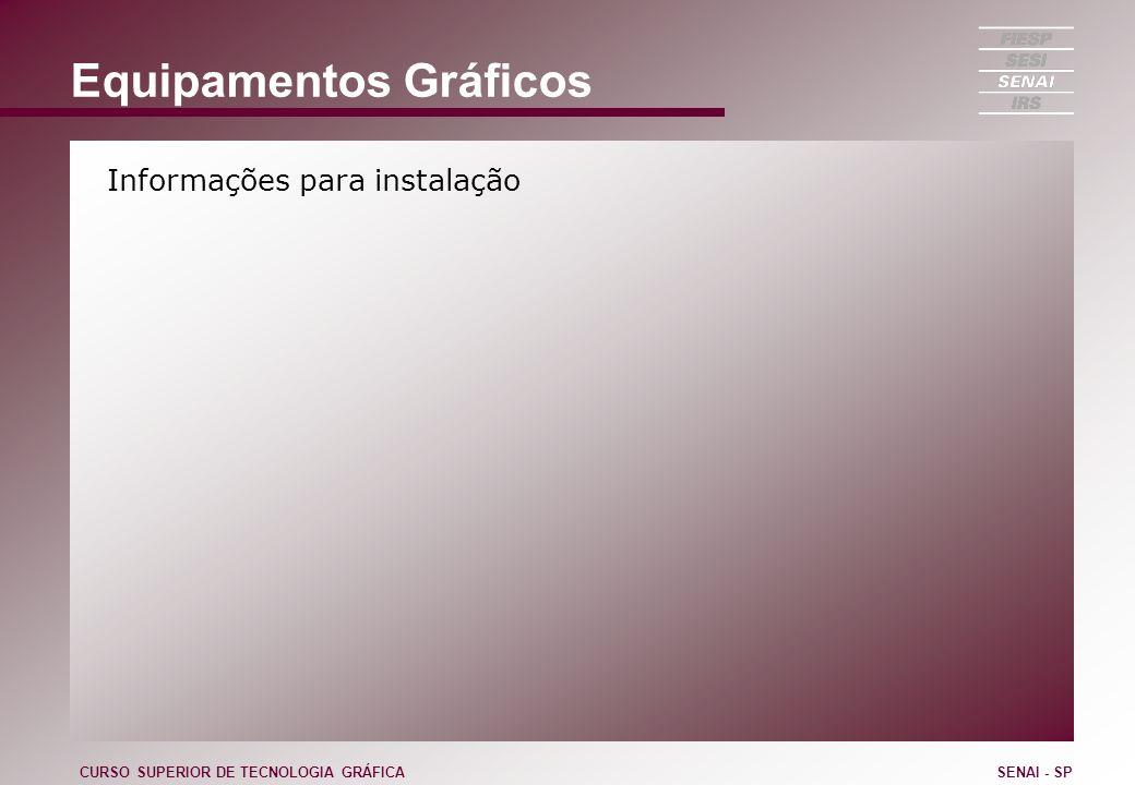 Equipamentos Gráficos Informações para instalação CURSO SUPERIOR DE TECNOLOGIA GRÁFICASENAI - SP
