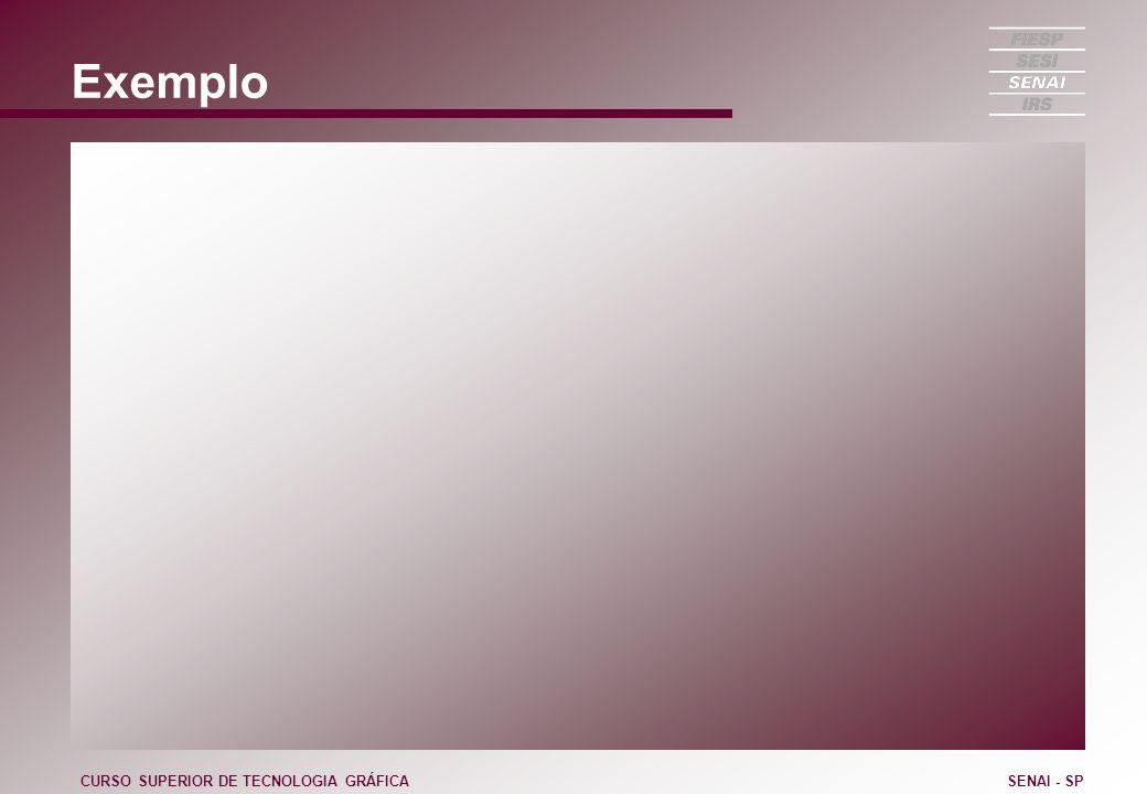 Exemplo CURSO SUPERIOR DE TECNOLOGIA GRÁFICASENAI - SP