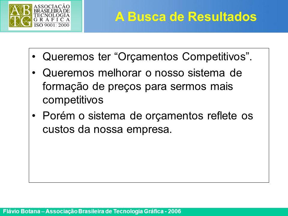 Certificada ISO 9002 Flávio Botana – Associação Brasileira de Tecnologia Gráfica - 2006 Queremos ter Orçamentos Competitivos. Queremos melhorar o noss