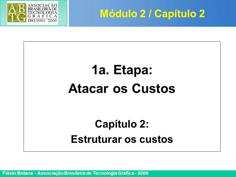 Certificada ISO 9002 Flávio Botana – Associação Brasileira de Tecnologia Gráfica - 2006 1a. Etapa: Atacar os Custos Capítulo 2: Estruturar os custos M