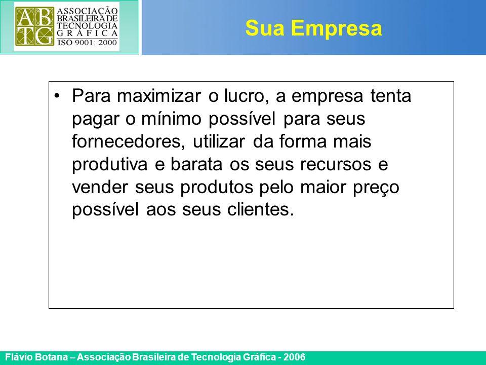 Certificada ISO 9002 Flávio Botana – Associação Brasileira de Tecnologia Gráfica - 2006 Para maximizar o lucro, a empresa tenta pagar o mínimo possíve