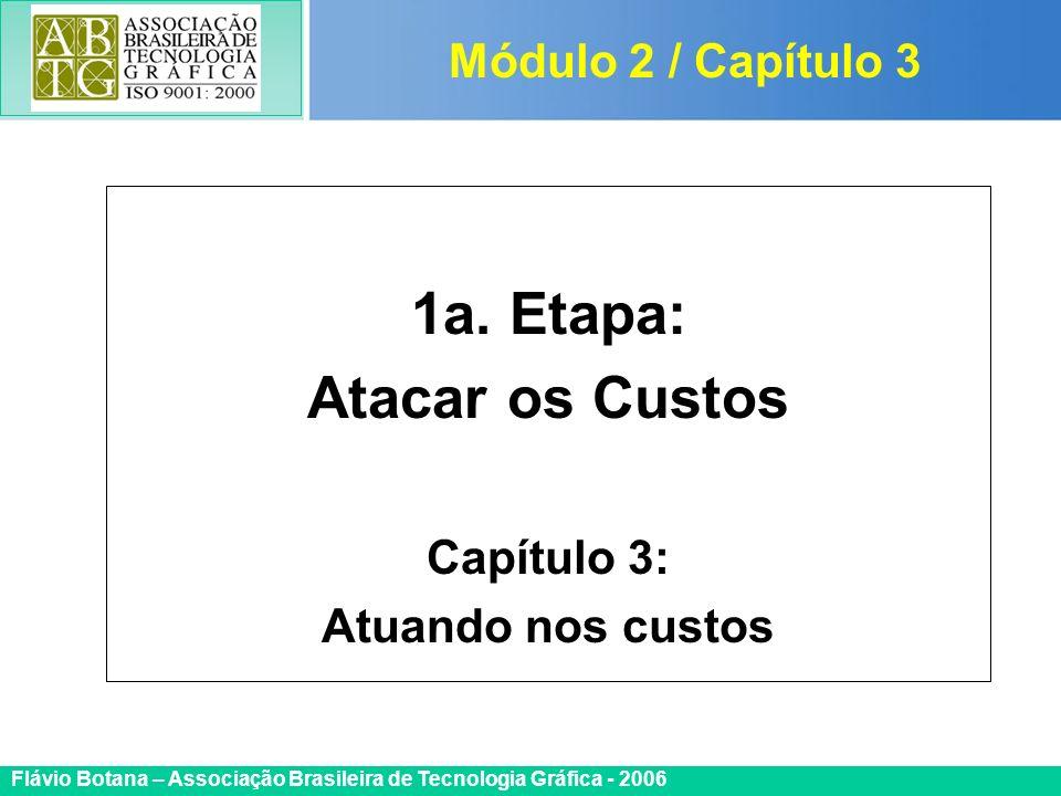 Certificada ISO 9002 Flávio Botana – Associação Brasileira de Tecnologia Gráfica - 2006 1a. Etapa: Atacar os Custos Capítulo 3: Atuando nos custos Mód