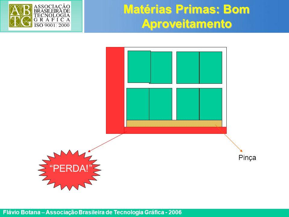 Certificada ISO 9002 Flávio Botana – Associação Brasileira de Tecnologia Gráfica - 2006 Matérias Primas: Bom Aproveitamento Pinça PERDA!