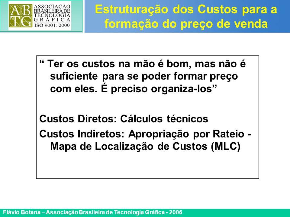 Certificada ISO 9002 Flávio Botana – Associação Brasileira de Tecnologia Gráfica - 2006 Ter os custos na mão é bom, mas não é suficiente para se poder