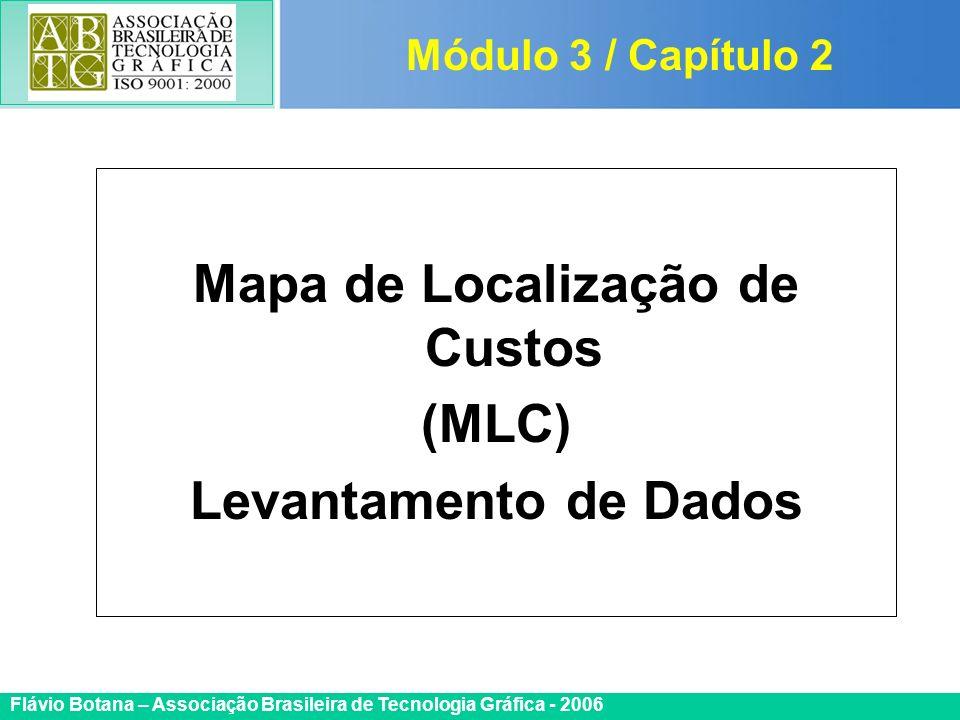Certificada ISO 9002 Flávio Botana – Associação Brasileira de Tecnologia Gráfica - 2006 Mapa de Localização de Custos (MLC) Levantamento de Dados Módu