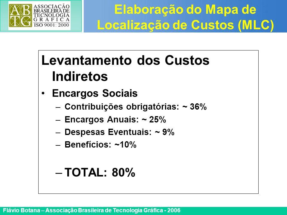 Certificada ISO 9002 Flávio Botana – Associação Brasileira de Tecnologia Gráfica - 2006 Levantamento dos Custos Indiretos Encargos Sociais –Contribuiç
