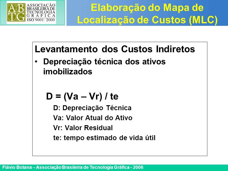 Certificada ISO 9002 Flávio Botana – Associação Brasileira de Tecnologia Gráfica - 2006 Levantamento dos Custos Indiretos Depreciação técnica dos ativ
