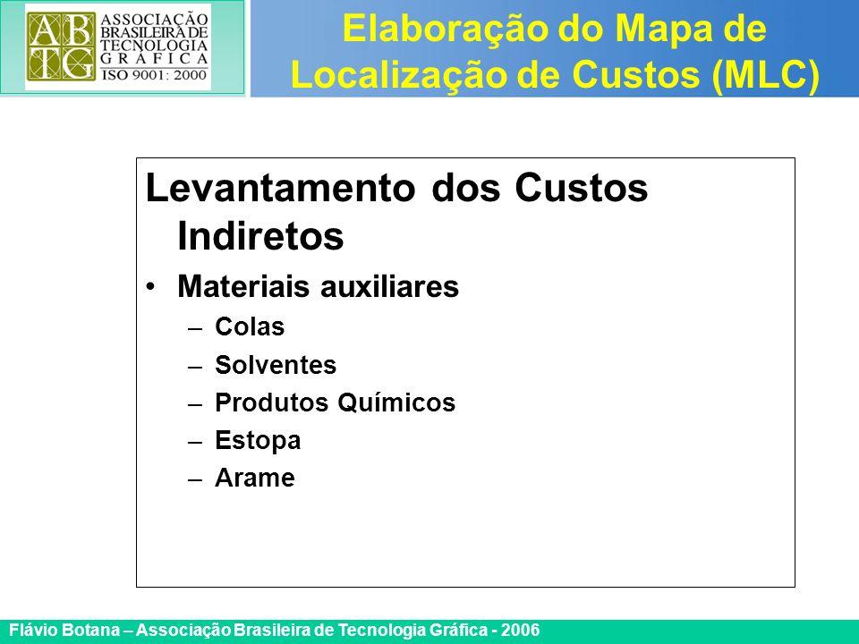 Certificada ISO 9002 Flávio Botana – Associação Brasileira de Tecnologia Gráfica - 2006 Levantamento dos Custos Indiretos Materiais auxiliares –Colas