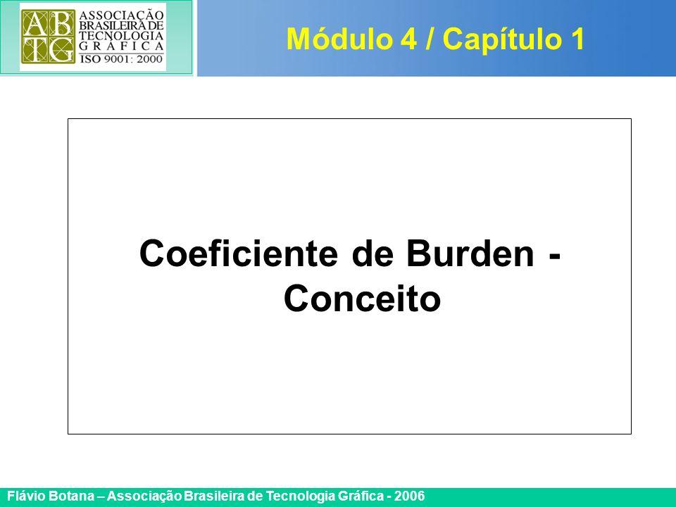 Certificada ISO 9002 Flávio Botana – Associação Brasileira de Tecnologia Gráfica - 2006 Coeficiente de Burden - Conceito Módulo 4 / Capítulo 1
