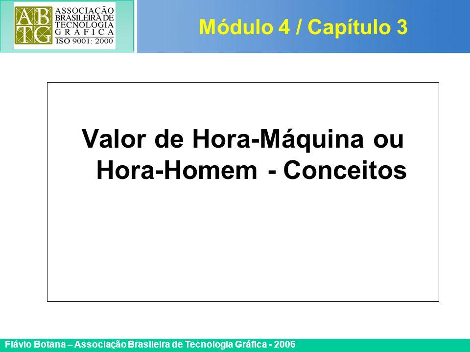 Certificada ISO 9002 Flávio Botana – Associação Brasileira de Tecnologia Gráfica - 2006 Valor de Hora-Máquina ou Hora-Homem - Conceitos Módulo 4 / Cap