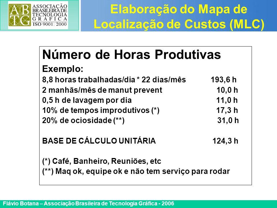 Certificada ISO 9002 Flávio Botana – Associação Brasileira de Tecnologia Gráfica - 2006 Número de Horas Produtivas Exemplo: 8,8 horas trabalhadas/dia