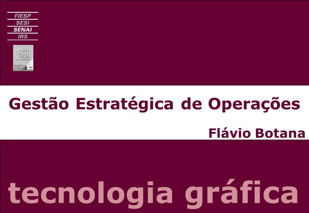 Planejamento Estratégico de Operações CURSO SUPERIOR DE TECNOLOGIA GRÁFICASENAI - SP