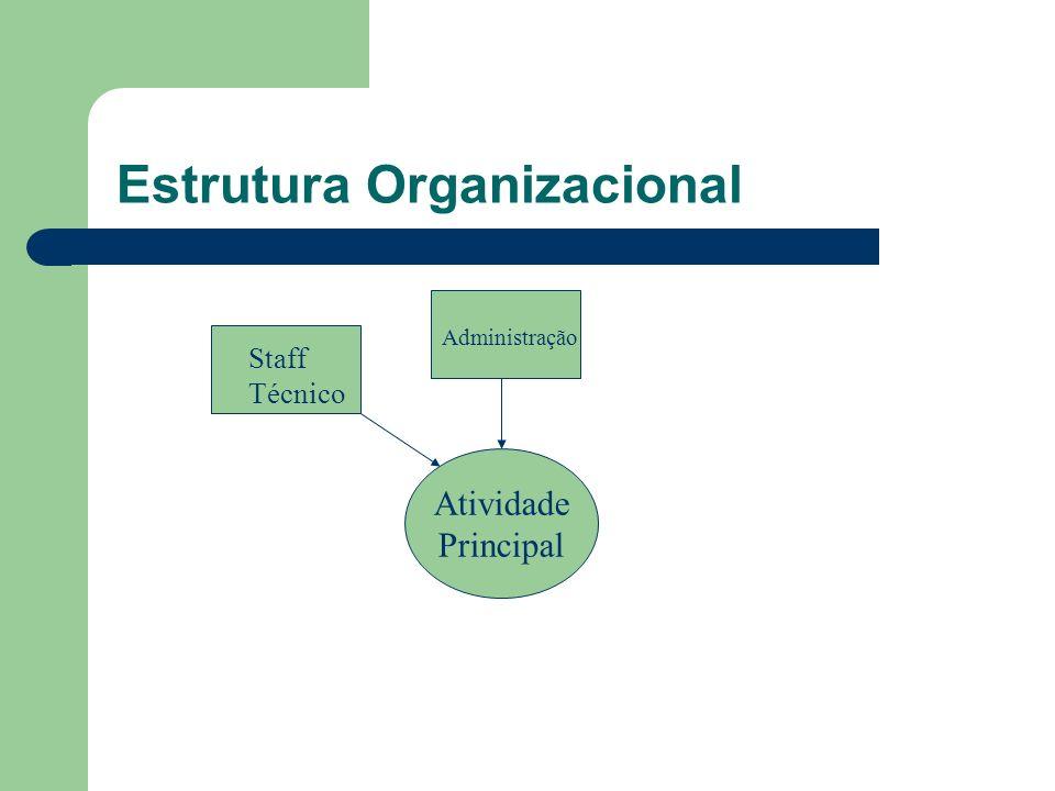 Estrutura Organizacional Atividade Principal Staff Técnico Administração