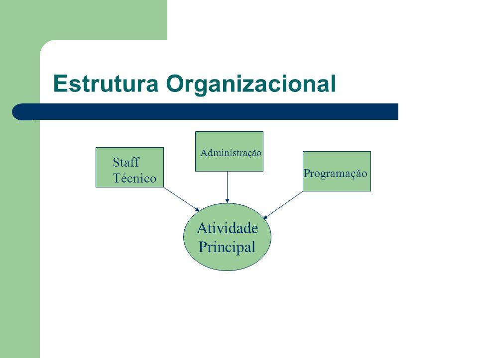 Estrutura Organizacional Atividade Principal Staff Técnico Administração Programação