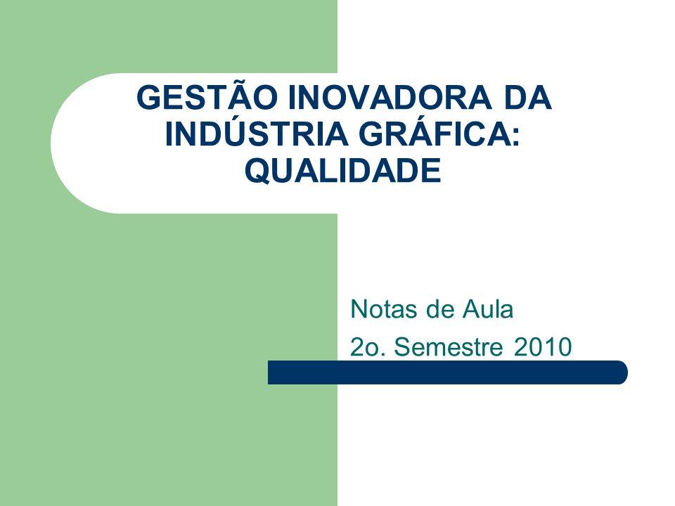 GESTÃO INOVADORA DA INDÚSTRIA GRÁFICA: QUALIDADE Notas de Aula 2o. Semestre 2010
