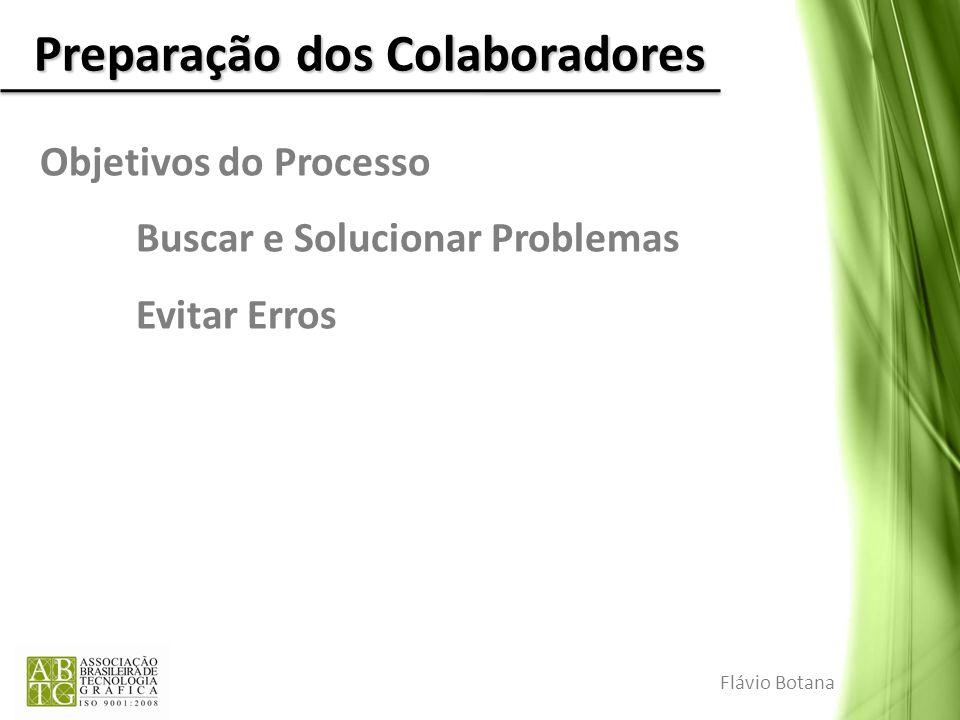 Preparação dos Colaboradores Objetivos do Processo Buscar e Solucionar Problemas Evitar Erros Flávio Botana